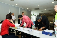 GC members signing attendance