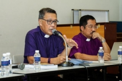 Bishop Dr Wee chairing the meeting